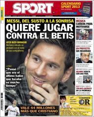 Sport: e agora Messi quer jogar