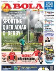 A Bola: Sporting quer adiar o derby