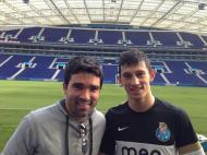 André Castro publicou nas redes sociais uma foto com Deco, no treino do FC Porto