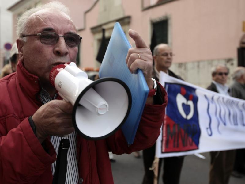 Concentração de reformados em Lisboa [LUSA]