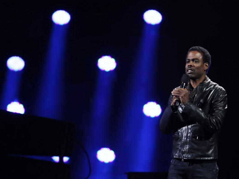 Chris Rock no concerto «12-12-12» em Nova Iorque (Reuters)