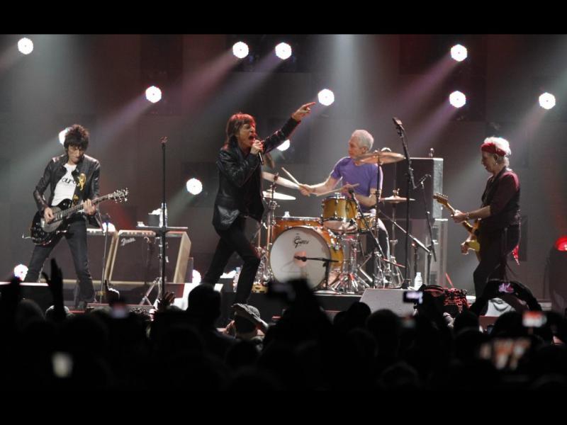 The Rolling Stones no concerto «12-12-12» em Nova Iorque (Reuters)