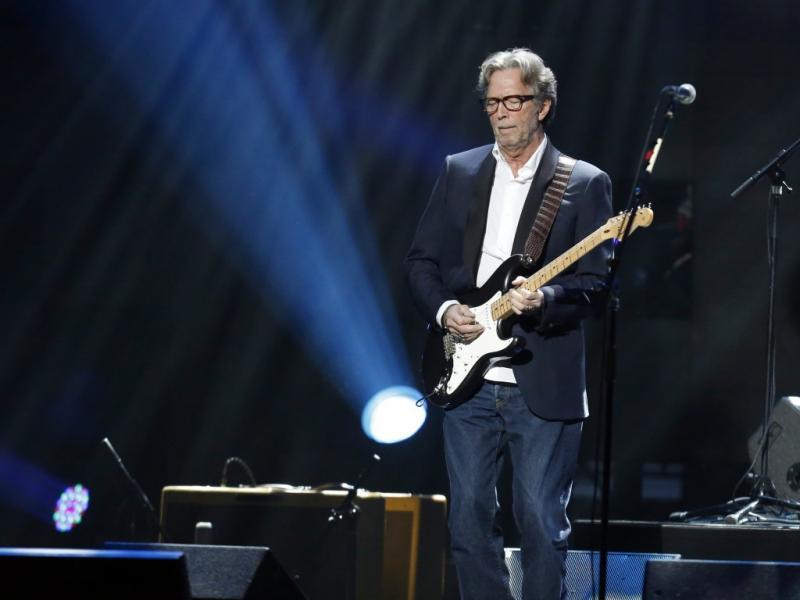 Eric Clapton no concerto «12-12-12» em Nova Iorque (Reuters)