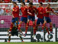 Seleção espanhola na final do Euro 2012 contra a Itália