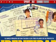 Os cartões dos jovens Xavi, Puyol e Messi na SportYou