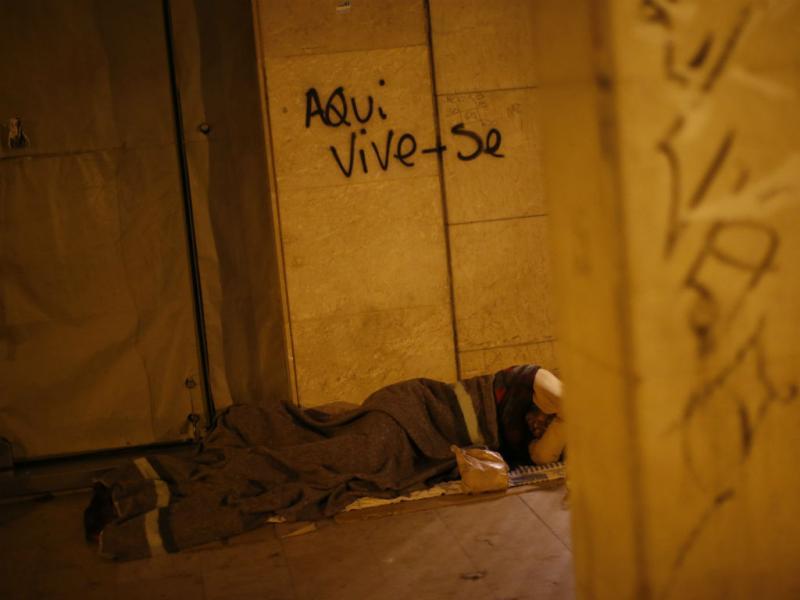 Reuters fotografa sem-abrigo em Lisboa (Reuters/Rafael Marchante)