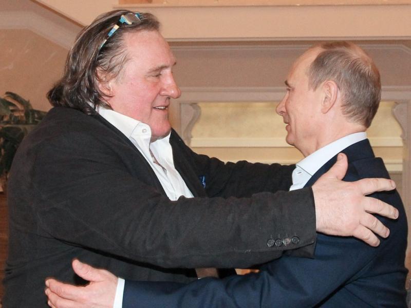 Gérard Depardieu e Vladimir Putin