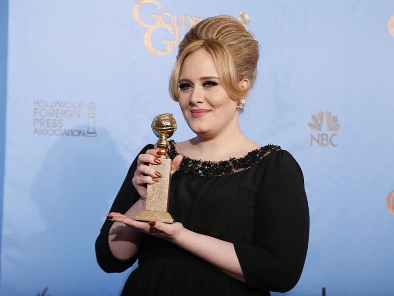 Globos de Ouro 2013 Vencedores - Adele, Melhor Canção «Skyfall»