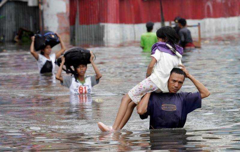 Cheias em Jacarta [Reuters]