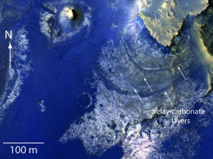 Lago em Marte [Foto: NASA]