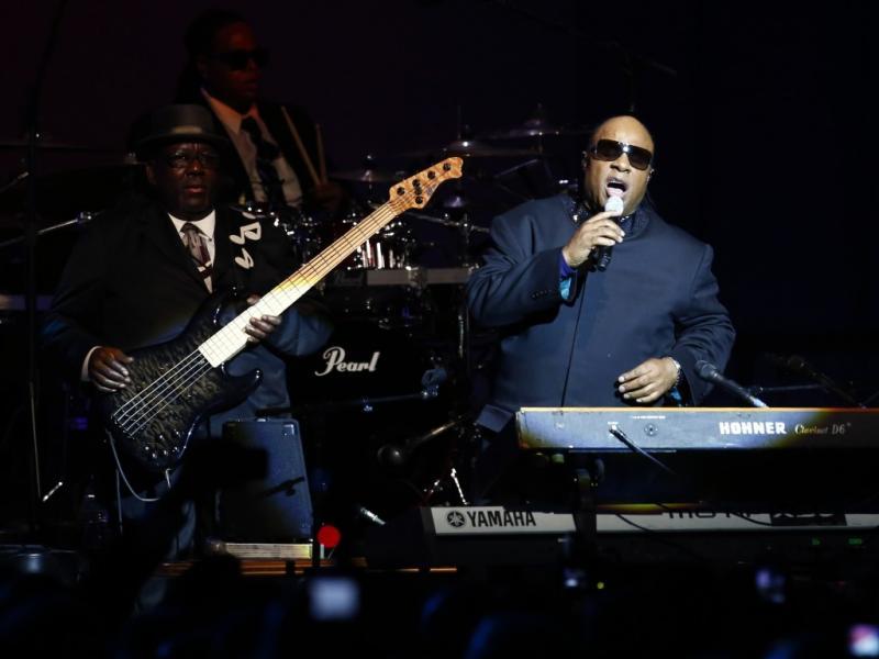 Stevie Wonder na gala de celebração da tomada de posse de Barack Obama (Reuters)