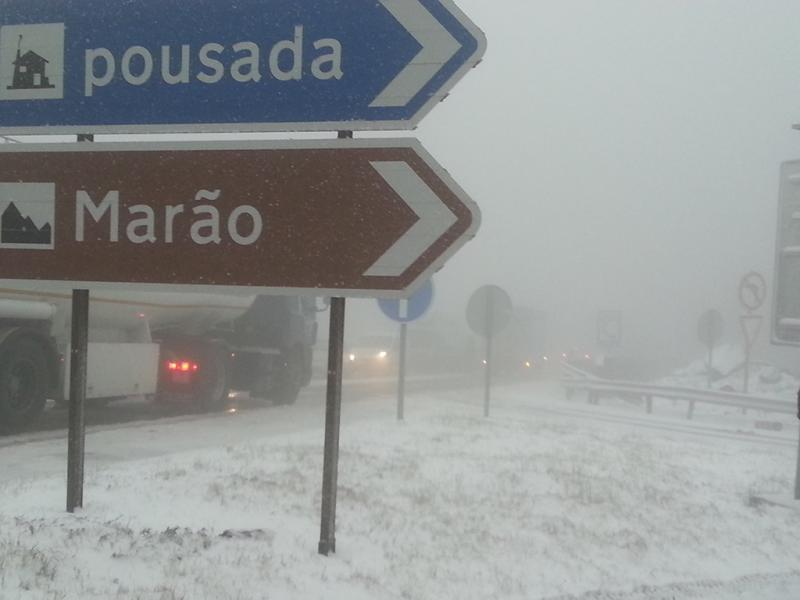 Neve Serra do Marão, por Filipe Soares (foto euvi@tvi.pt)