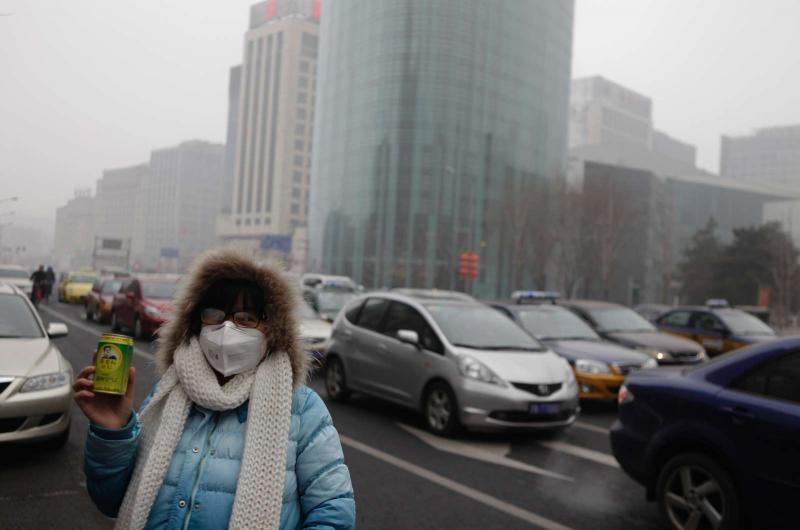 A bruma mais prolongada em quase 60 anos em Pequim [Reuters/Jason Lee]