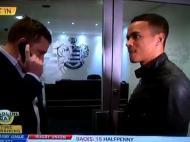 Jermaine Jenas à porta do QPR