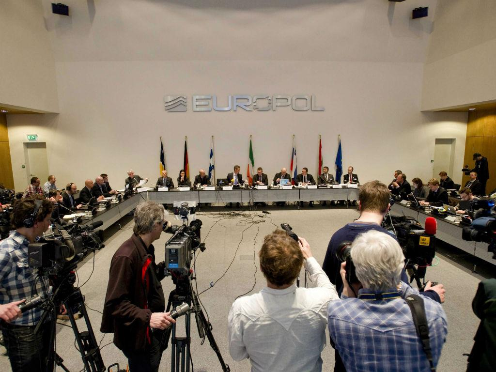 Conferência de imprensa da Europol
