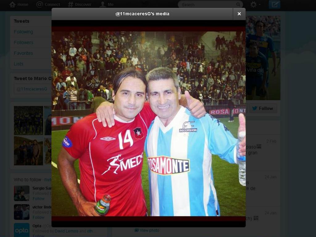Mario Caceres e Beto Acosta (foto: twitter)