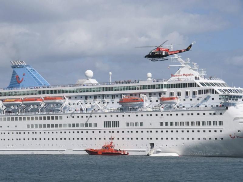Acidente em simulacro com navio cruzeiro nas Canárias (EPA)