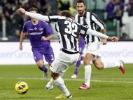 Juventus: Matri faz golo à Fiorentina descalço