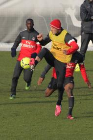 Primeiro treino de David Beckham no PSG Foto: Reuters