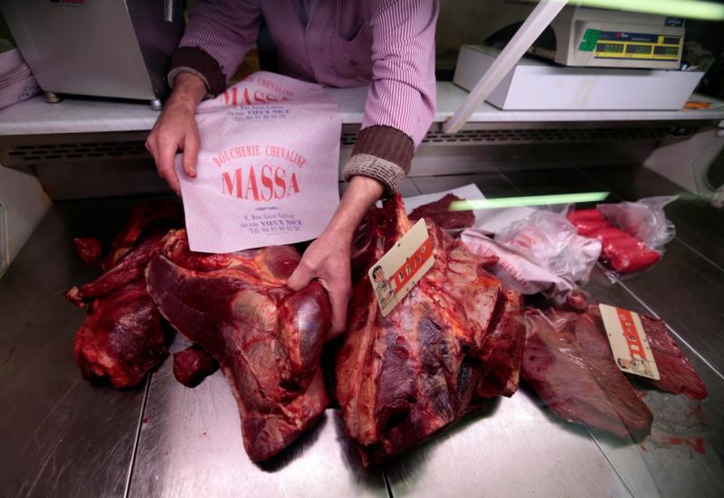 Este talho em Paris só vende carne de cavalo (Reuters)