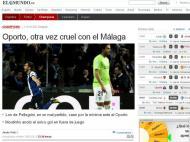El Mundo: «Porto, outra vez cruel com o Málaga»