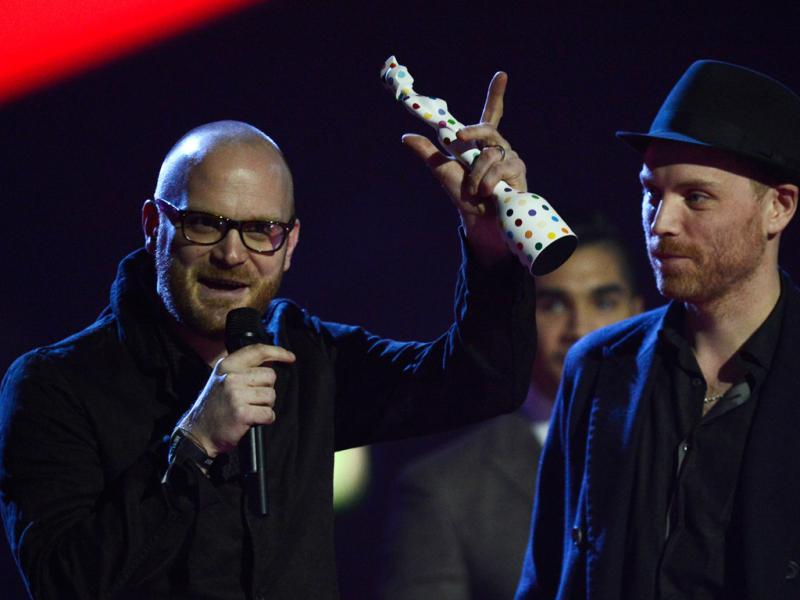 Coldplay nos Brit Awards 2013 (Reuters)