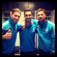 A festa do Real Madrid: Sergio Ramos, Arbeloa e Xabi Alonso