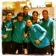 A festa do Real Madrid: Ronaldo, Kaká, Sergio Ramos, Pepe, Khedira e Varane