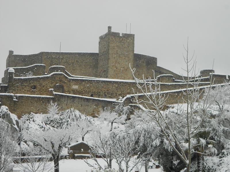 Neve em Marvão, Alentejo (Foto enviada para euvi@tvi.pt)
