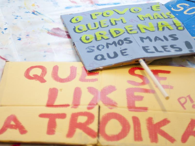 Movimento «Que se Lixe a Troika» prepara manifestação (Fotografia Cláudia Lima da Costa)