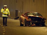 Acidente de carro de Ronaldo (REUTERS/Phil Noble)