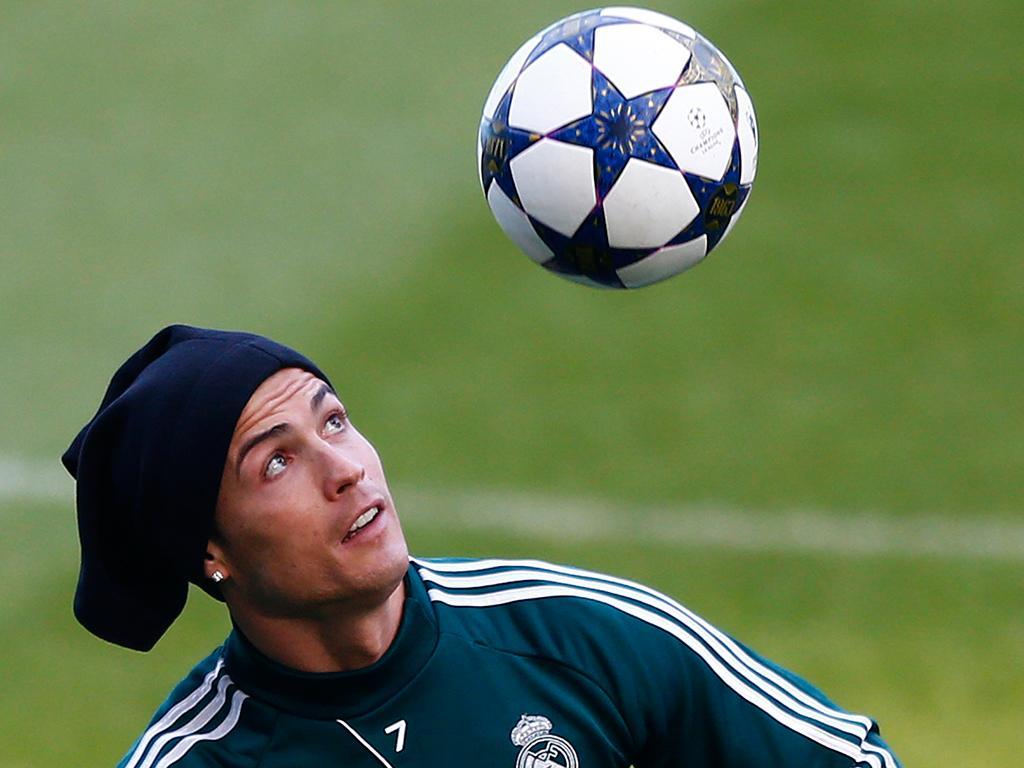 Cristiano Ronaldo no treino (REUTERS)