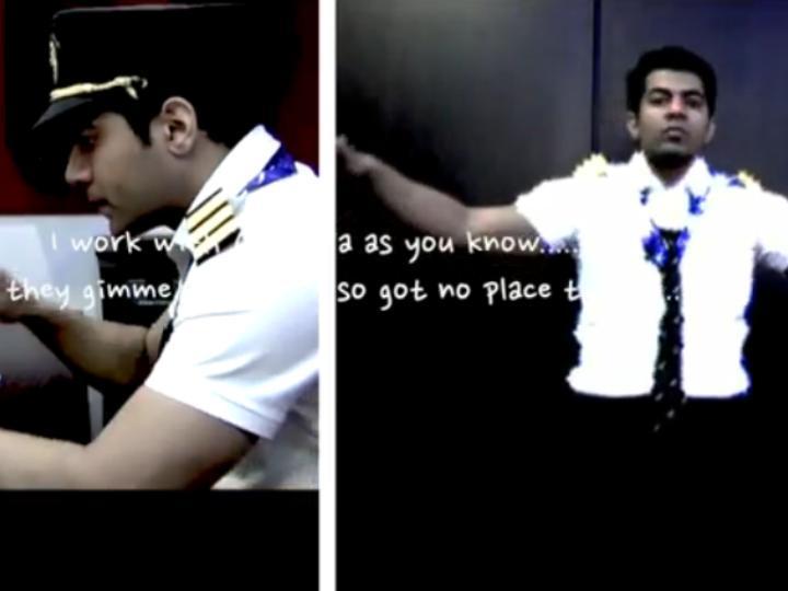 Piloto da «Air India» vira «rapper»