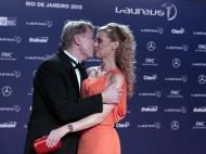 Prémios Laureus: Mika Hakkinen com a mulher
