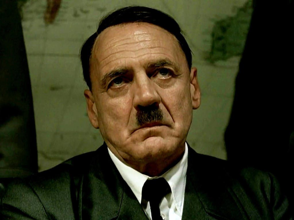 Bruno Ganz como Hitler no filme «A Queda»