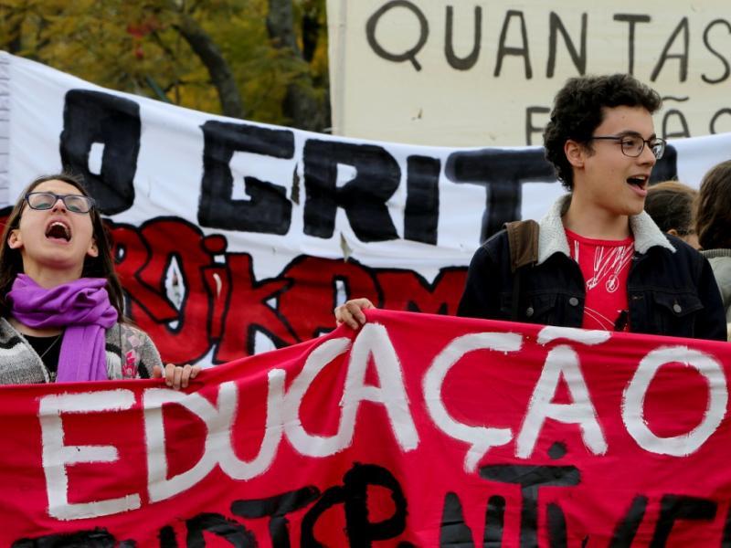 Manifestação de estudantes do Ensino Superior [LUSA]