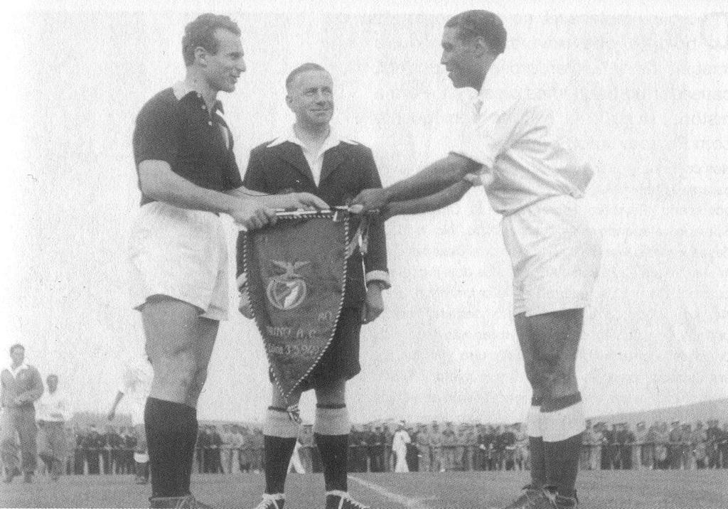 Benfica-Torino, 1949: Francisco Ferreira e Valentino Mazzola