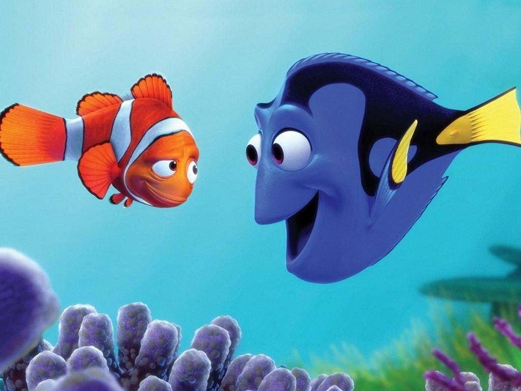 Marlin e Dory em «À Procura de Nemo»