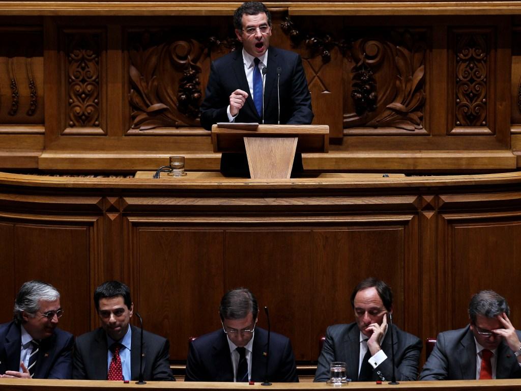 Debate da Moção de censura do PS no Parlamento (José Sena Goulão/Lusa)