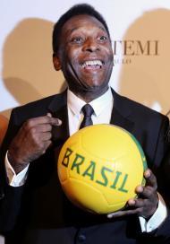 Pelé - Gala amfAR em São Paulo Foto: Reuters