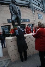 Benfica: homenagem a Bobby Robson em Newcastle (Foto slbenfica.pt)