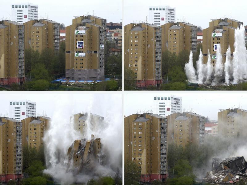 Implosão da Torre 4 do Aleixo (Lusa/José Coelho)