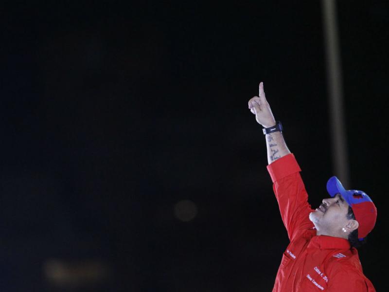 Maradona apoiou Maduro na Venezuela (EPA/David Fernández)