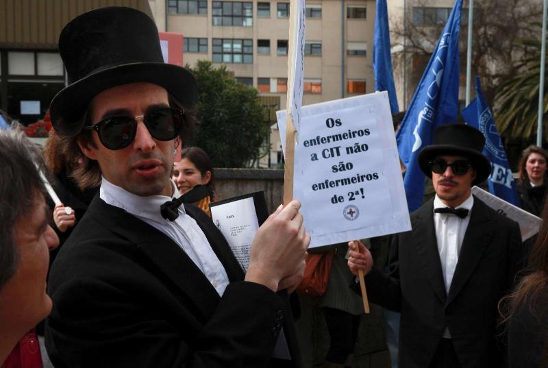 Protesto de enfermeiros em Lisboa (Lusa/Inácio Rosa)