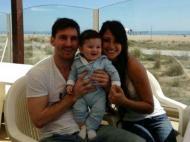 Messi com o filho Thiago