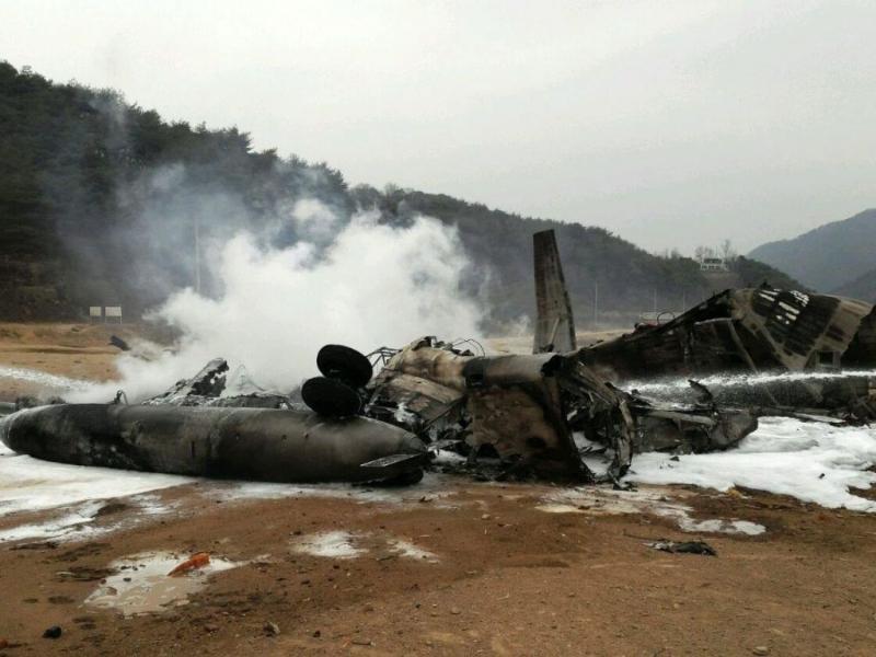 Helicóptero dos EUA cai na Coreia do Sul