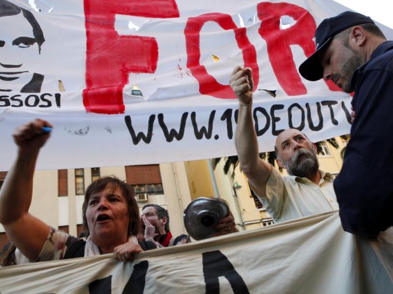 Protesto «Que se lixe a troika» [LUSA]
