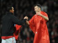 Nani na festa do Manchester United campeão