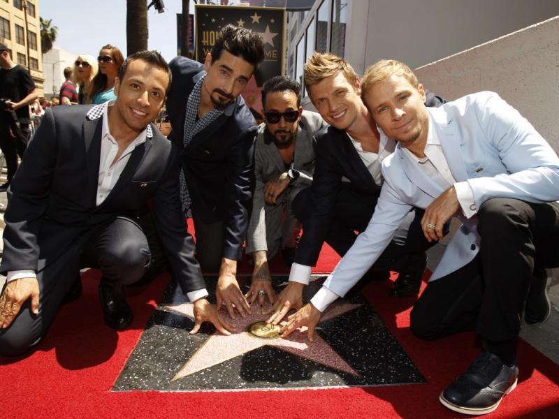 A estrela dos Backstreet Boys no Passeio da Fama de Hollywood (Reuters)