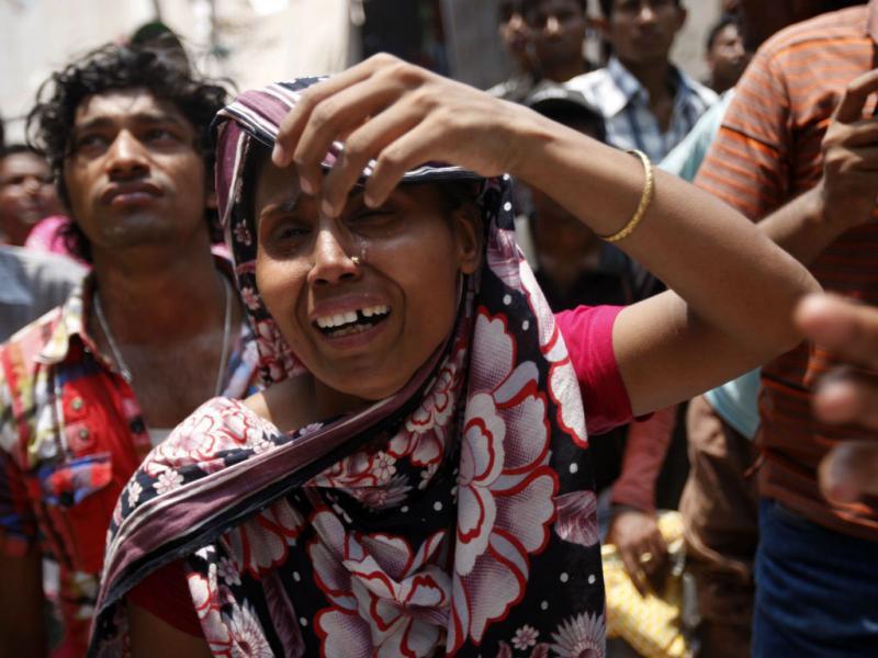 Queda de edifício no Bangladesh (EPA/ABIR ABDULLAH)